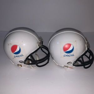 2 Blank helmets with Pepsi sticker